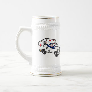 Ambulance Vehicle Emergency Medical Technician Par Beer Stein