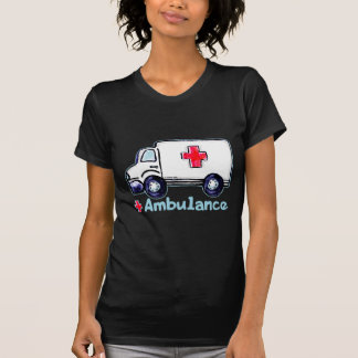 Ambulance womens dark t-shirt