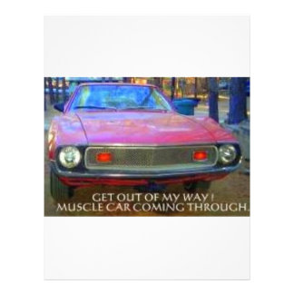 AMC 1974 AMX MUSCLE CARS LETTERHEAD