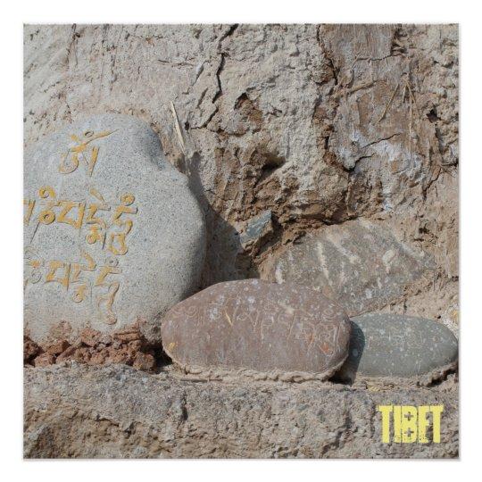 Amdo Tibetan Buddhist Mani Stones Poster