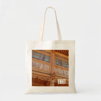 Amdo Tibetan Traditional Wooden Architecture Tote Bag
