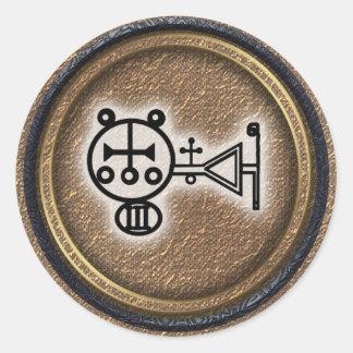 amdusias classic round sticker