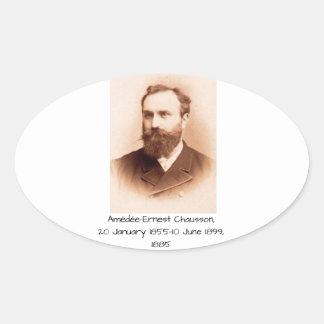 Amedee-Ernest Chausson Oval Sticker