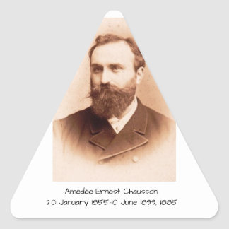 Amedee-Ernest Chausson Triangle Sticker