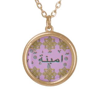 Ameena Aminah arabic names Gold Plated Necklace