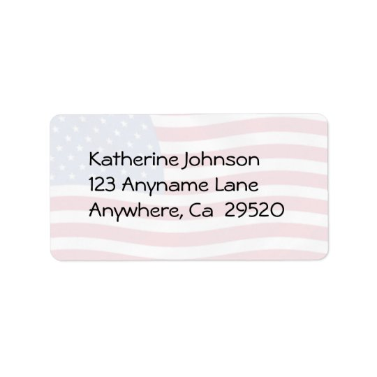 Ameican Flag  Address Labels