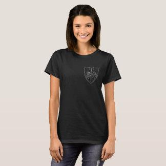 Amelia DragonHunter Coat of Arms Womens Black T-Shirt