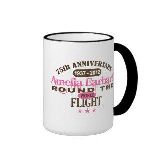 Amelia Earhart 75 Year Anniversary Ringer Coffee Mug
