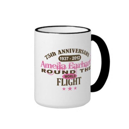 Amelia Earhart 75 Year Anniversary Mugs