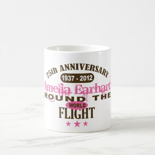Amelia Earhart 75 Year Anniversary Coffee Mug