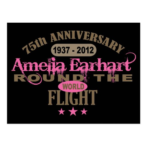 Amelia Earhart 75 Year Anniversary Post Cards