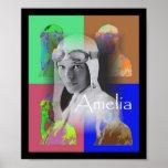 Amelia Earhart Affiche