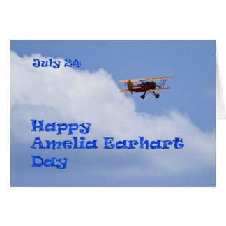 Amelia Earhart Day Card July 24