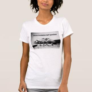 Amelia Earhart Ladies Adventure Quote T-shirt