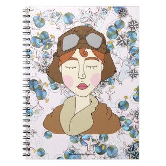 Amelia Earhart - Notable Women Spiral Notebook