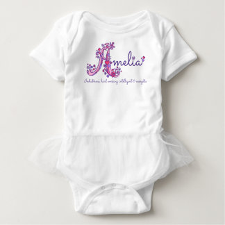 Amelia girls name & meaning A monogram romper