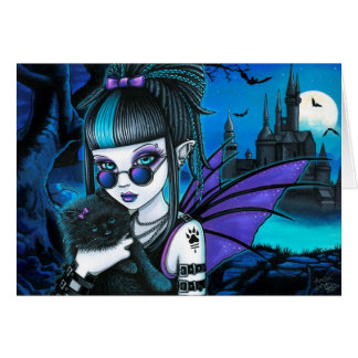 Amelia Gothic Vampire Werecat Moon Fairy Castle Card