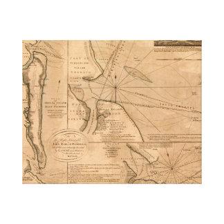 Amelia Island, Florida 1770 map Canvas Print