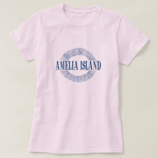 Amelia Island in blue with sun design T-Shirt