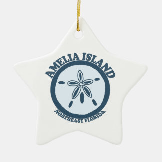 Amelia Island - Sand Dollar. Ceramic Ornament