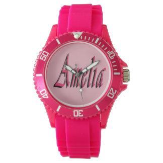Amelia, Name, Logo,_Ladies Pink Sports Watch