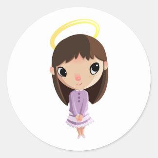 Amelia the Angel Classic Round Sticker