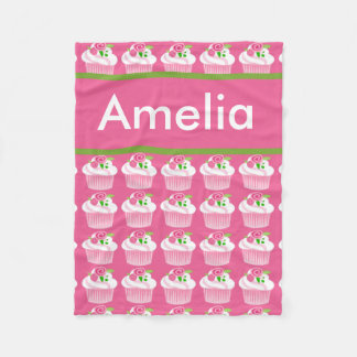 Ameliar's Personalized Cupcake Blanket