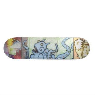Amelia's blue monster skate board