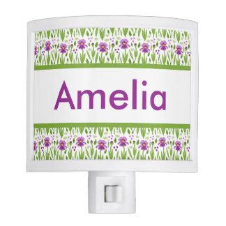 Amelia's Personalized Iris  Night Light
