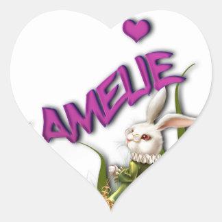 Amelie Heart Sticker