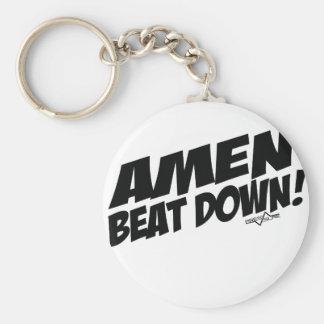 AMEN Beatdown Basic Round Button Keychain