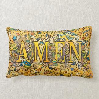 AMEN Decorative Floral Lumbar Pillow