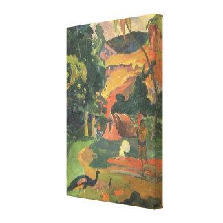 Aménagez les paons en parc de W par Gauguin, Impression Sur Toile