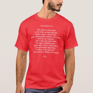 Amendment IV  (dark) T-Shirt