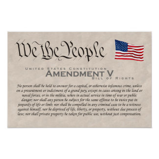 Amendment V Poster