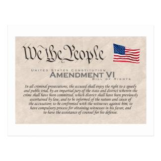 Amendment VI Postcard
