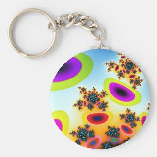 Ameoba Basic Round Button Keychain
