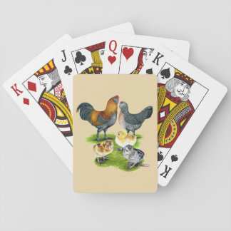 Ameraucana Chicken Family Playing Cards