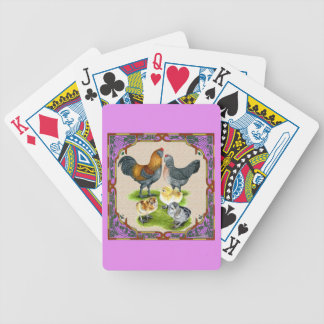 Ameraucana Family Framed Bicycle Playing Cards