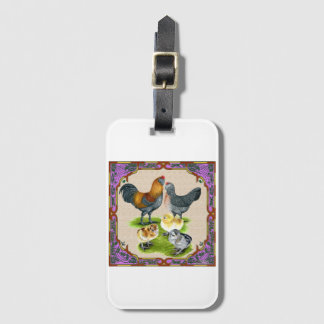 Ameraucana Family Framed Luggage Tag