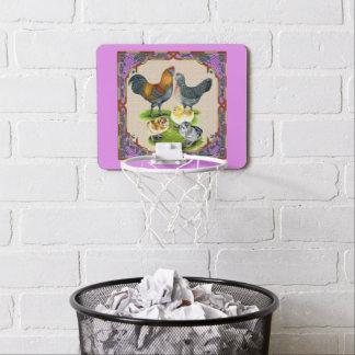 Ameraucana Family Framed Mini Basketball Hoop
