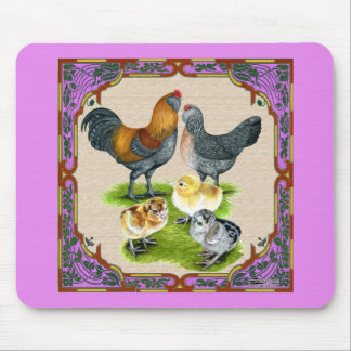 Ameraucana Family Framed Mouse Pad