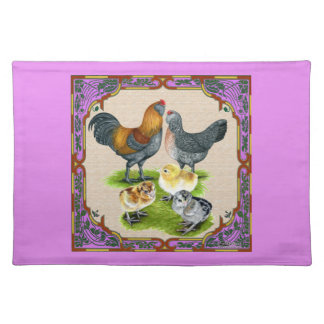 Ameraucana Family Framed Placemat