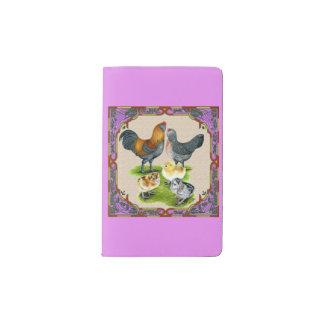 Ameraucana Family Framed Pocket Moleskine Notebook