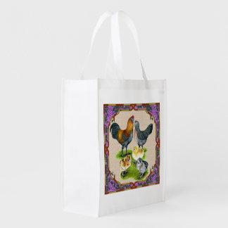 Ameraucana Family Framed Reusable Grocery Bag