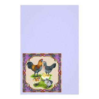 Ameraucana Family Framed Stationery