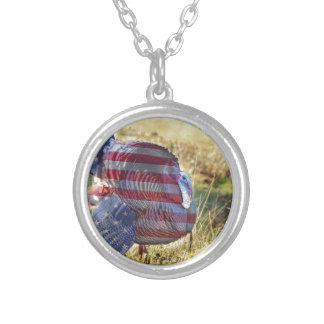 Amercan Wild Turkey Silver Plated Necklace