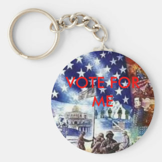 AmerFlag, VOTE FOR ME Basic Round Button Keychain