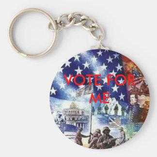 AmerFlag VOTE FOR ME Key Chain
