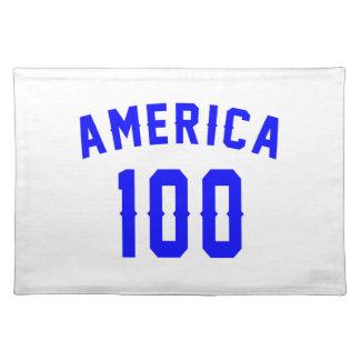 America 100 Birthday Designs Placemat